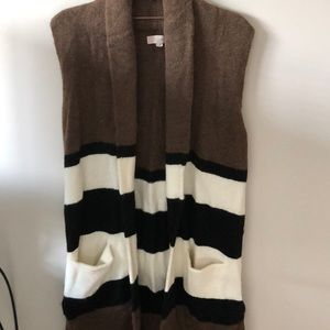 Loft open front and sleeveless sweater